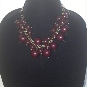 Chunky beaded necklace NWOT